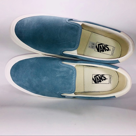 f1c9df9364c VANS OG Slip On 59 LX Suede Smoke Blue Sneakers